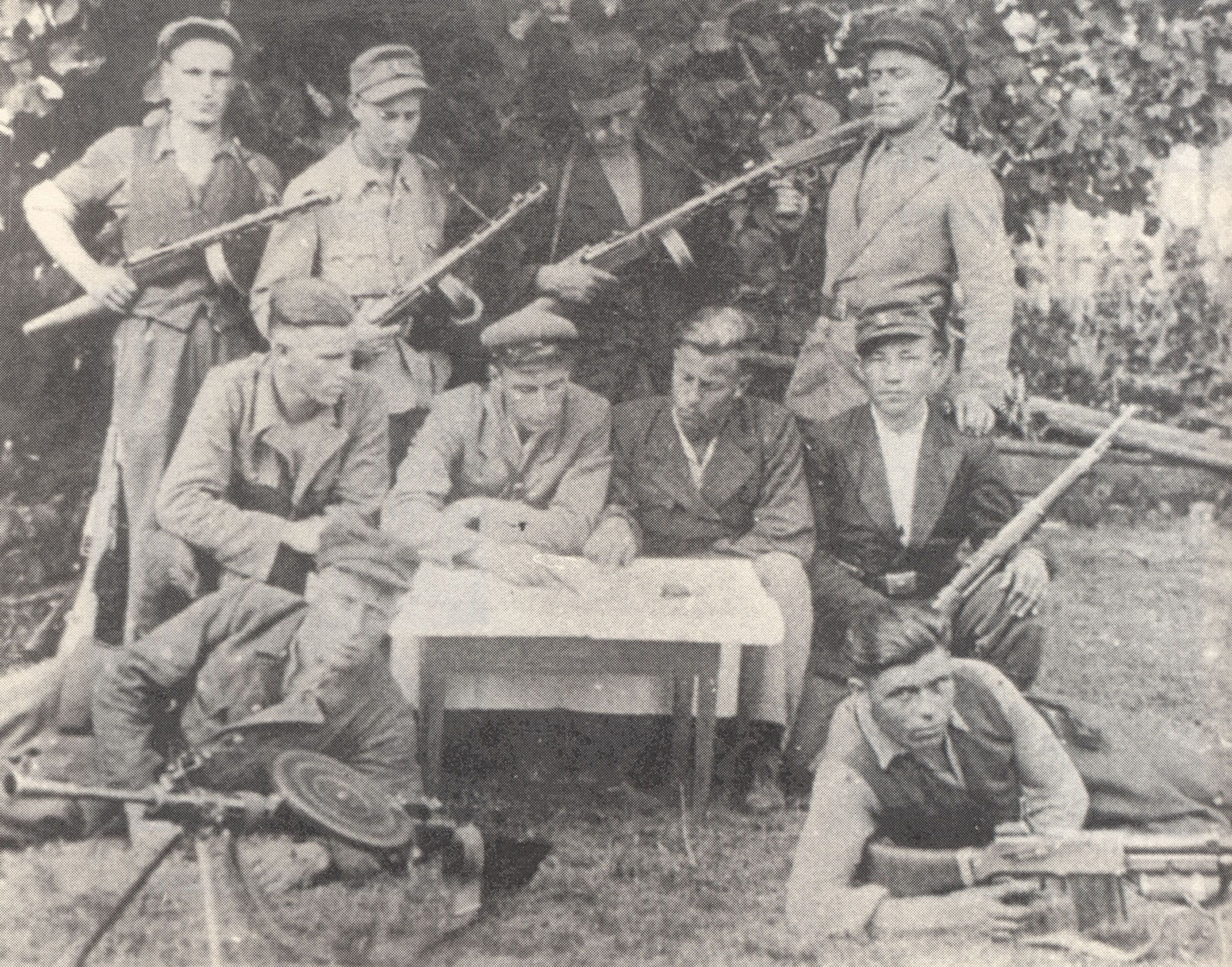 Szmajzner with the partisans